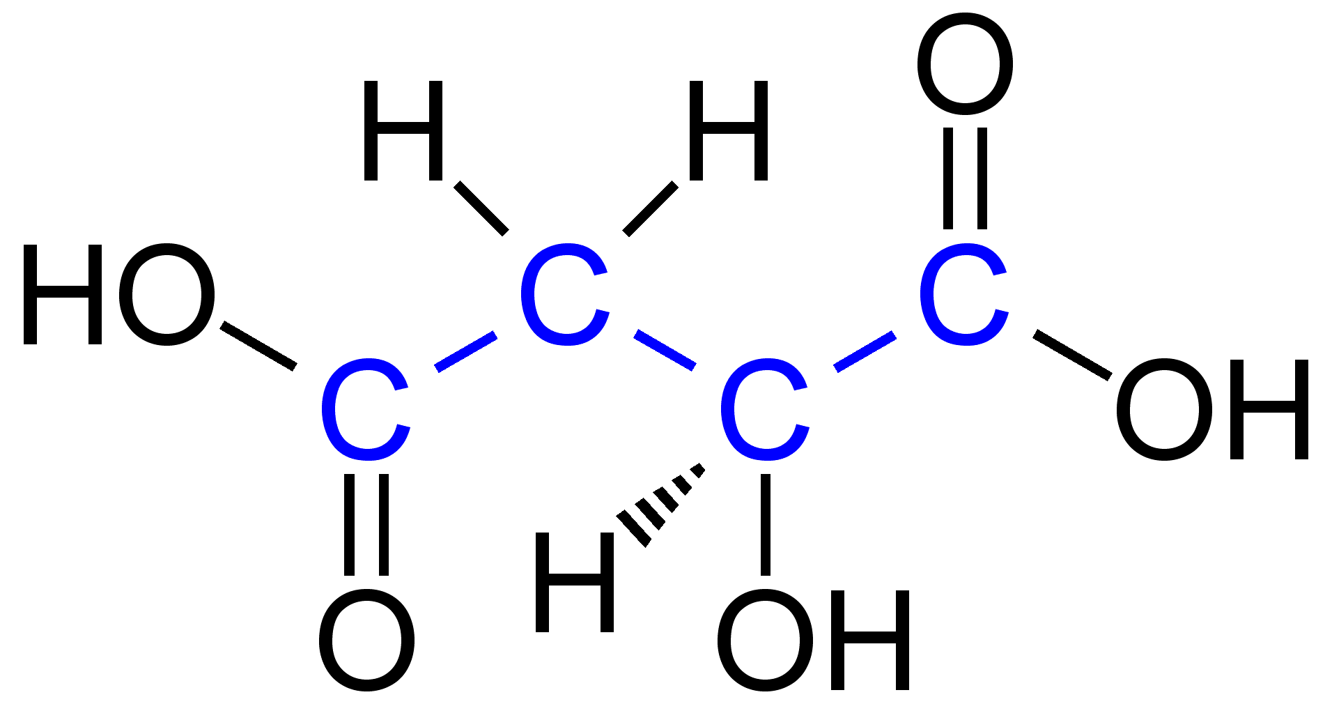malic acid - selfhacked, Skeleton